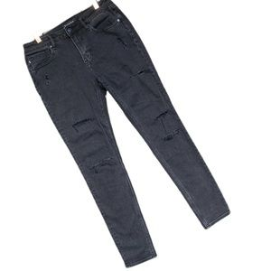 VIGOSS Mid-Rise Distressed Denim Skinny Jeans